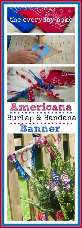 July 4th Burlap Bandana Banner
