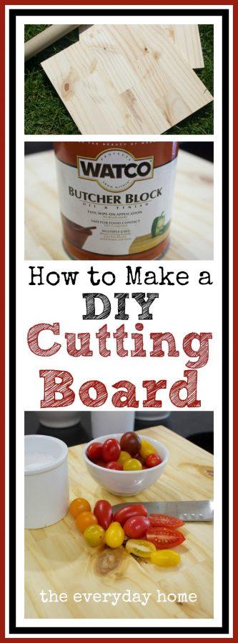 Lowes DIY Cutting Board by The Everyday Home  www.everydayhomeblog.com