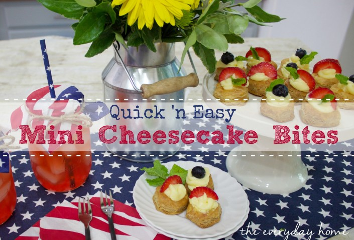 Quick 'n Easy Cheesecake Bites by The Everyday Home  www.everydayhomeblog.com