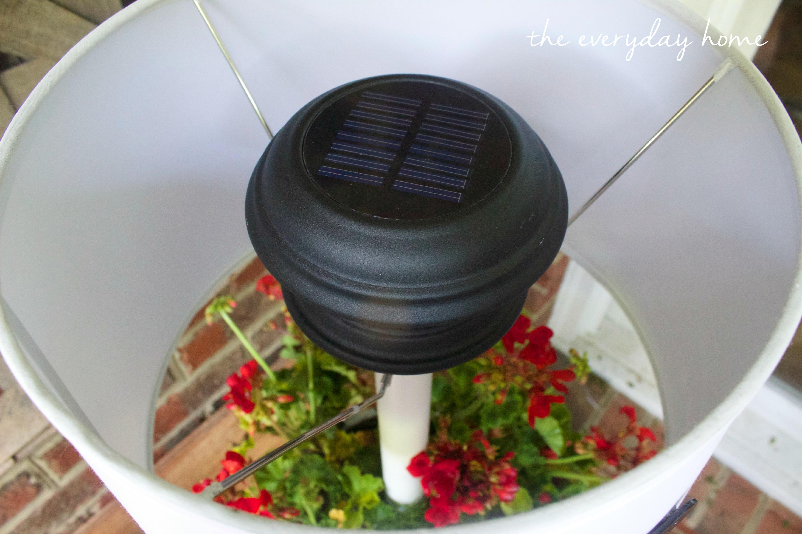 Solar Light Lamp by The Everyday Home  www.everydayhomeblog.com