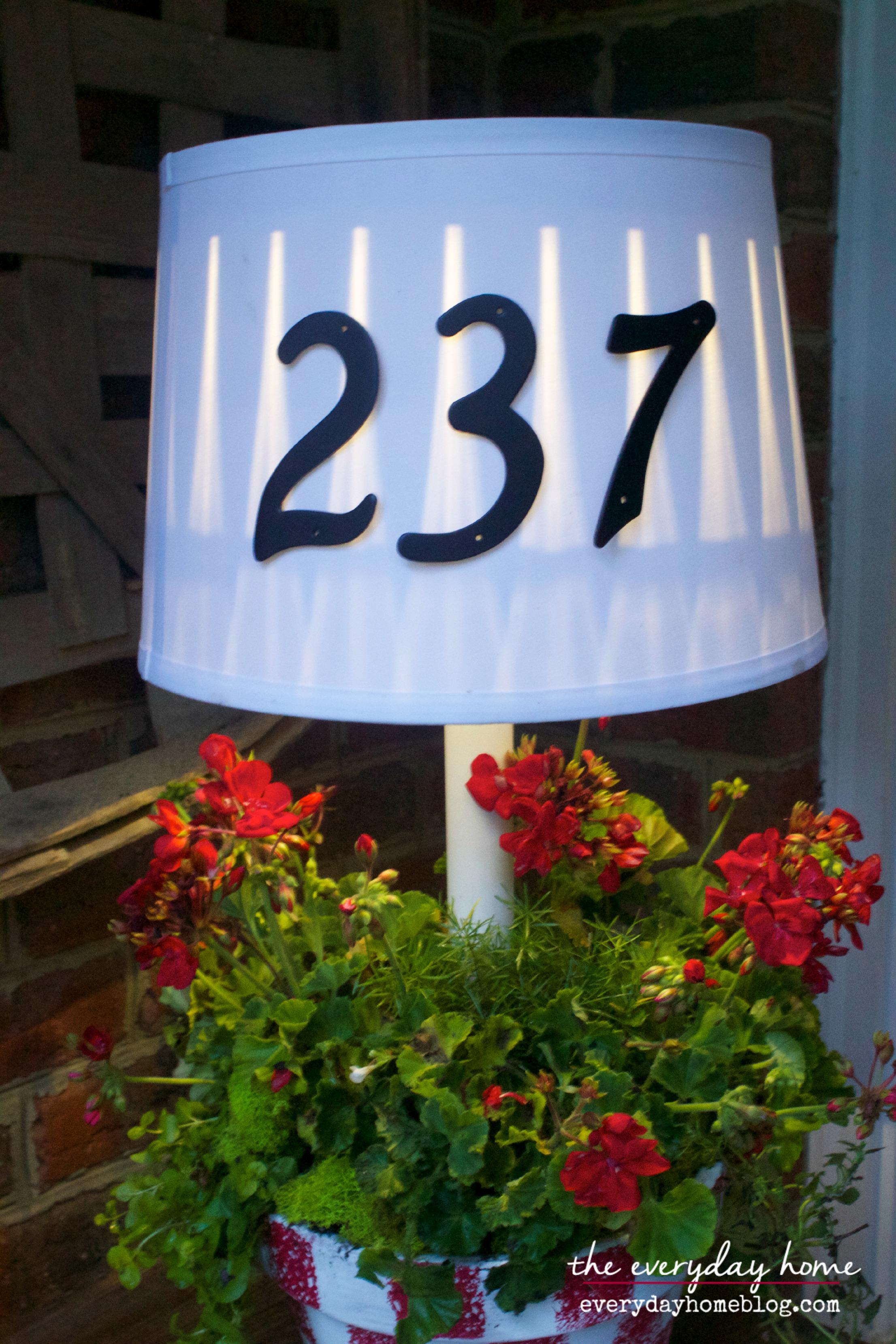 Solar Porch Lamp by The Everyday Home  www.everydayhomeblog.com