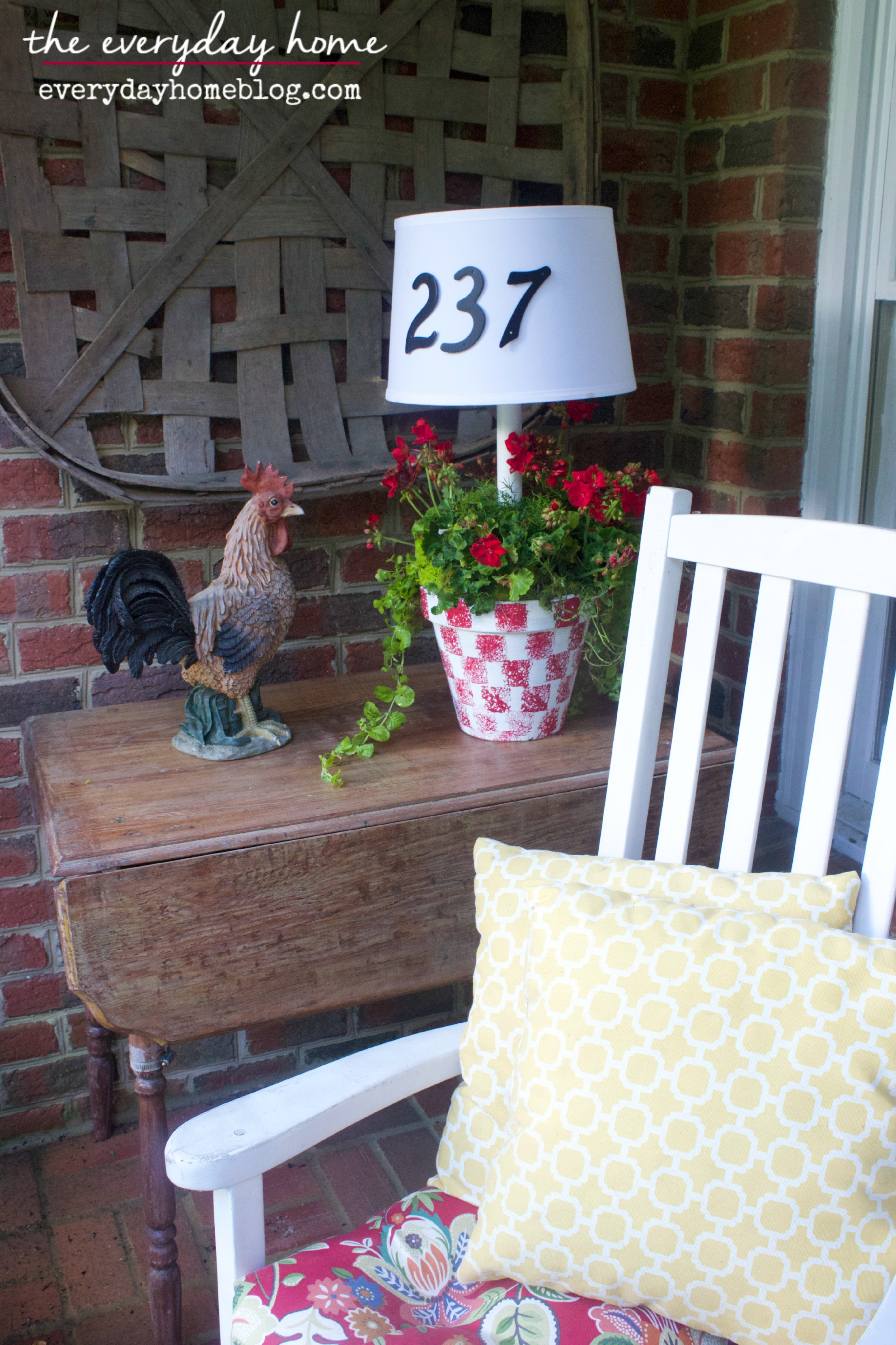 Southern Porch by The Everyday Home  www.everydayhomeblog.com
