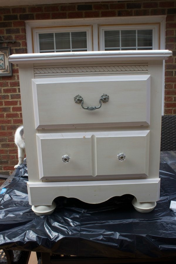 Farmhouse Bedside Table Makeover by The Everyday Home