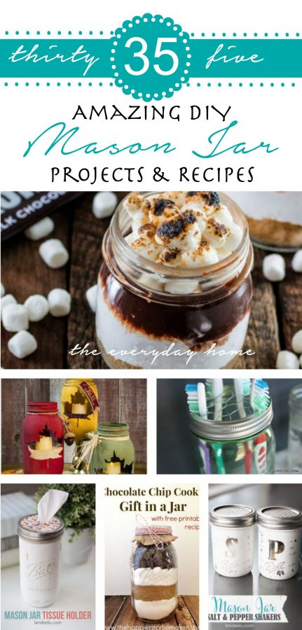 35 Amazing DIY Mason Jar Projects   The Everyday Home   www.everydayhomeblog.com