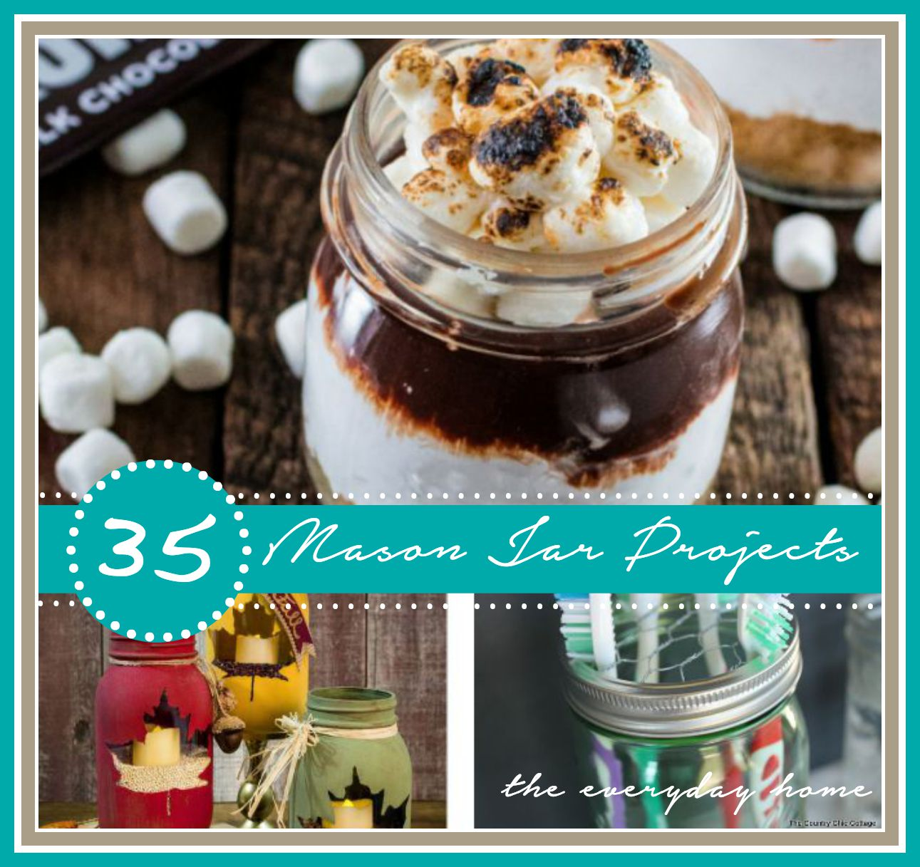 35 diy mason jar projects the everyday home for Projects to do with mason jars