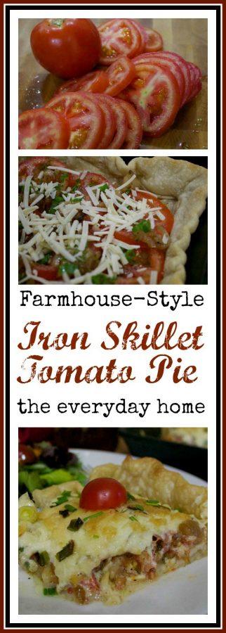 Farmhouse Friday Tomato Pie    The Everyday Home    www.everydayhomeblog.com
