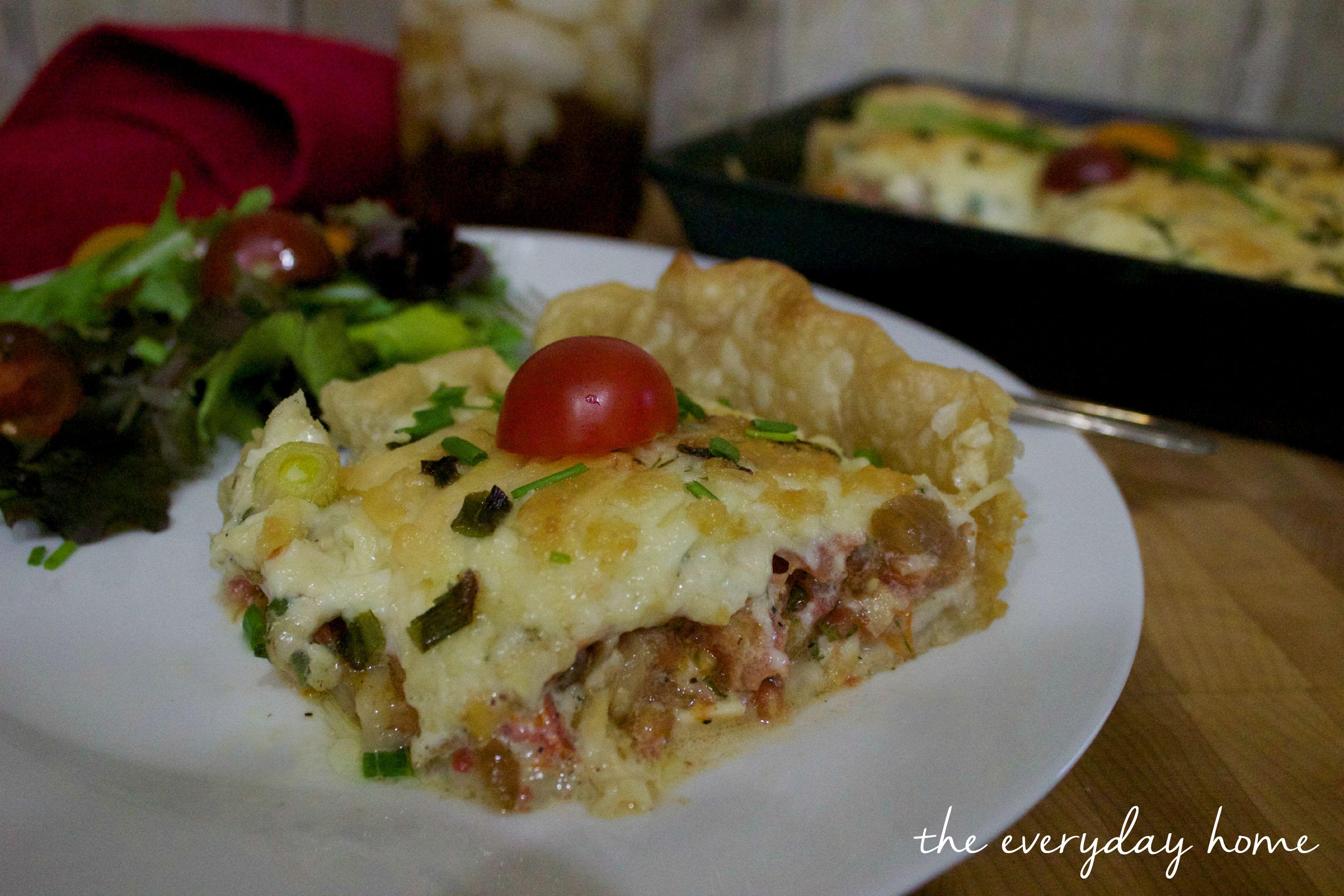 Farmhouse Recipe Tomato Pie   The Everyday Home   www.everydayhomeblog.com