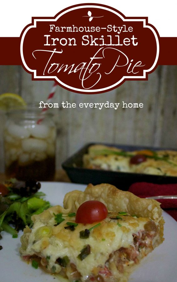 Farmhouse Tomato Pie   The Everyday Home   www.everydayhomeblog.com