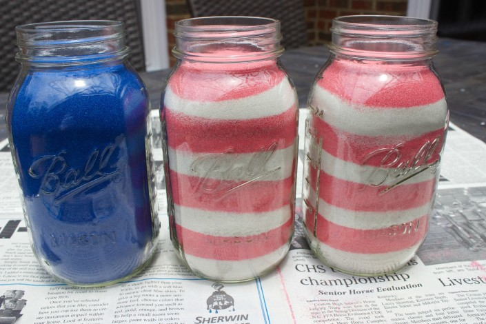 Filled Jars  July 4th Jars | The Everyday Home | www.everydayhomeblog.com