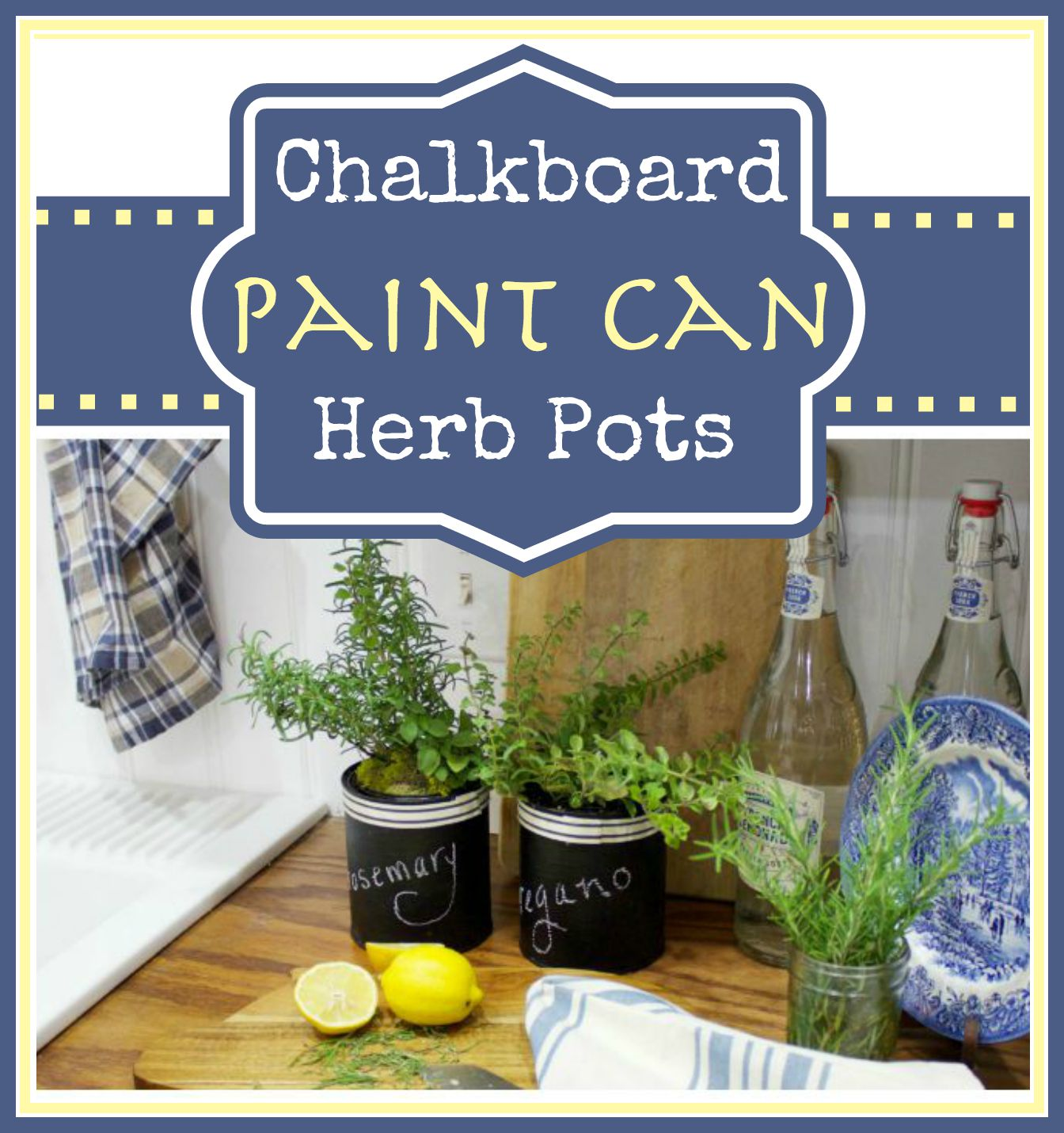 How to Create Paint Can Herb Pots by The Everyday Home | www.everydayhomeblog.com