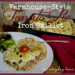 Iron Skillet Tomato Pie