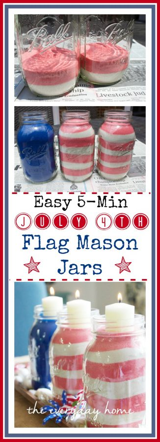 July 4th Flag Jars  The Everyday Home  www.everydayhomeblog.com