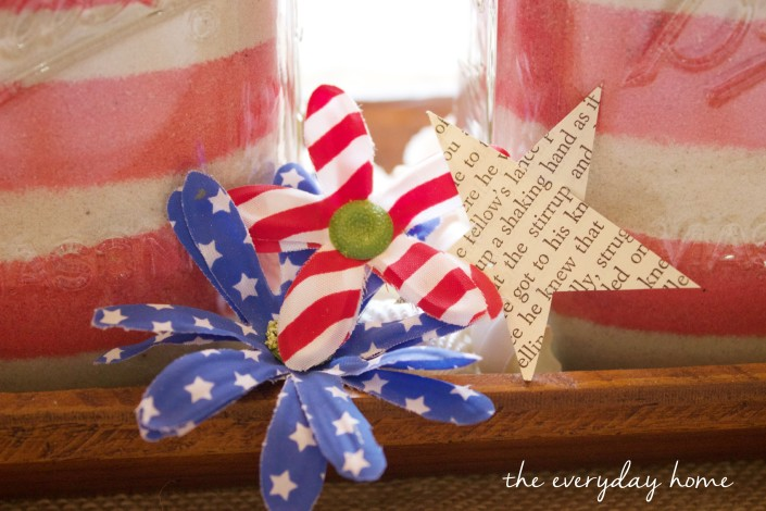 July 4th Jars on Tray | The Everyday Home  | www.everydayhomeblog.com
