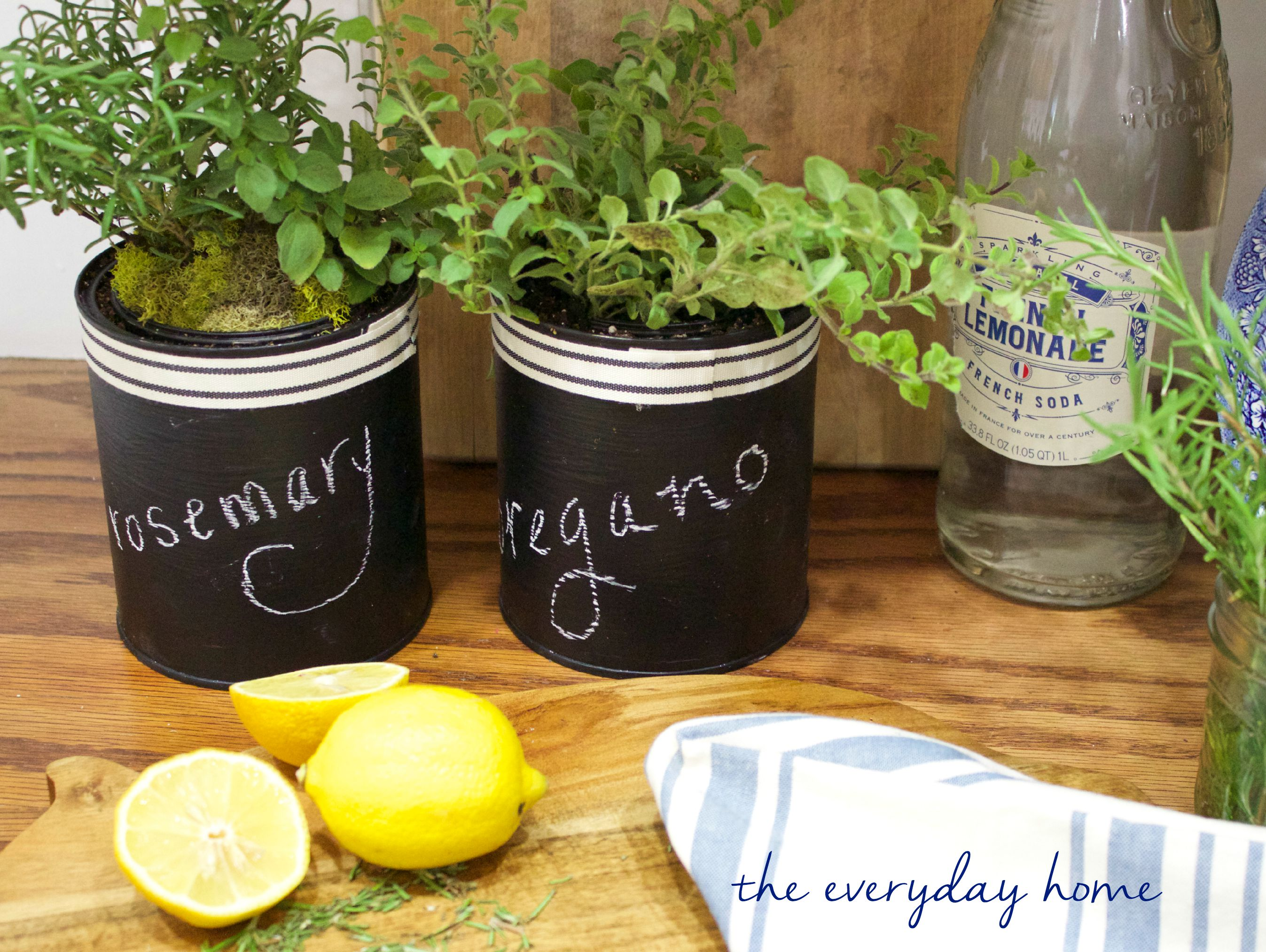 Paint Can Herb Pots | The Everyday Home  | www.everydayhomeblog.com