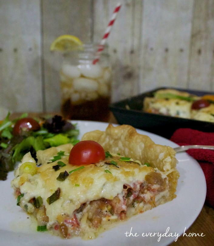 Recipe for Tomato Pie   The Everyday Home   www.everydayhomeblog.com