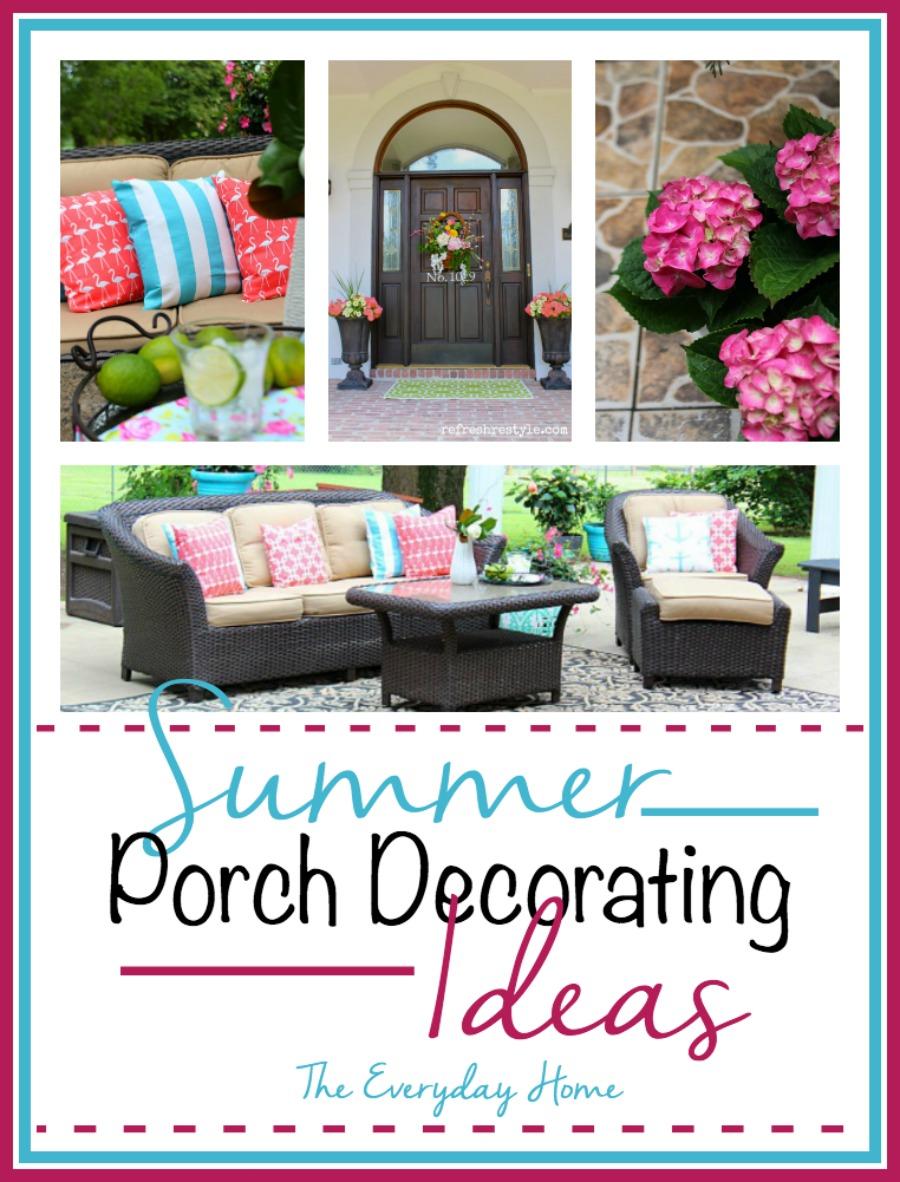 Summer Porch Decorating Ideas | The Everyday Home | www.everydayhomeblog.com