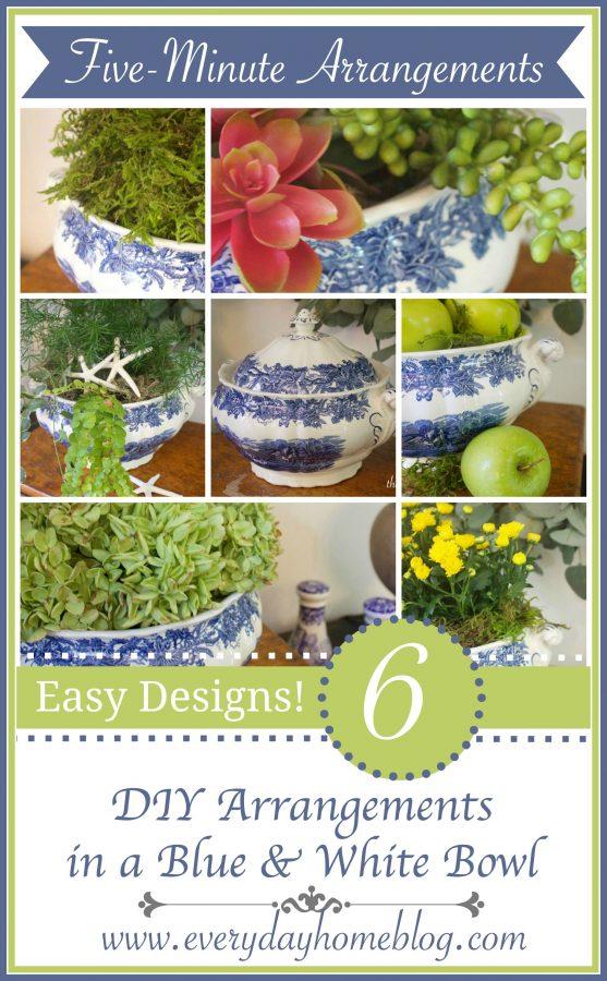 6 Five-Minute Arrangements | The Everyday Home | www.everydayhomeblog.com