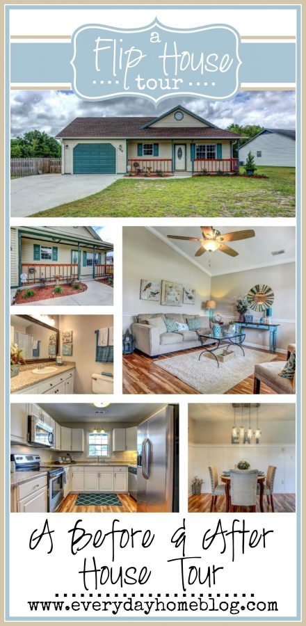 A Before & After Flip House Tour   The Everyday Home    www.everydayhomeblog.com