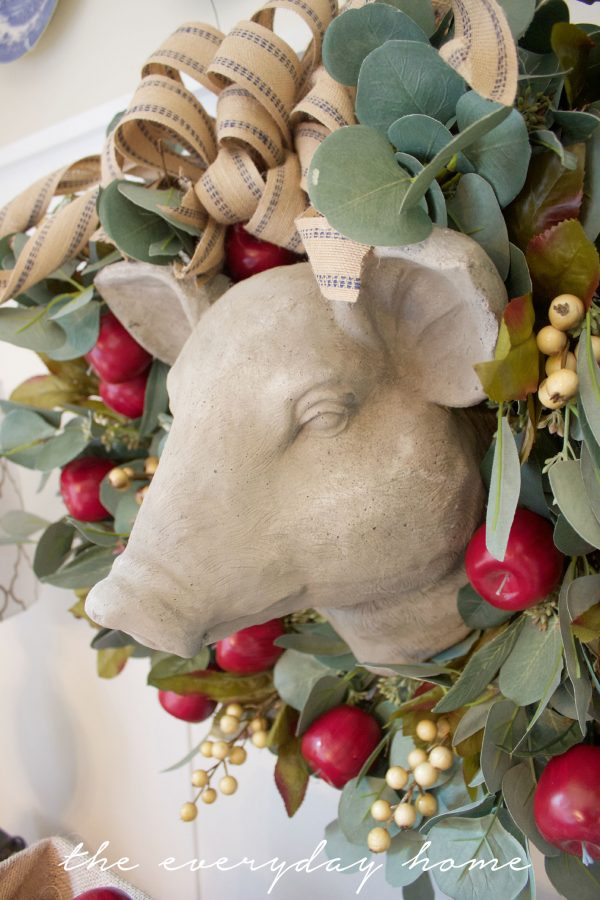 An Apple and Berry Wreath   The Everyday Home   www.everydayhomeblog.com