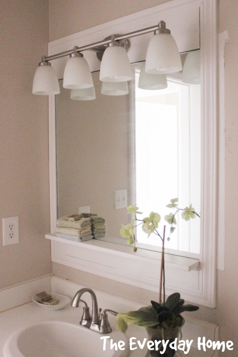 Pottery Barn-Inspired Bathroom Mirror Makeover | The Everyday Home | www.everydayhomeblog.com