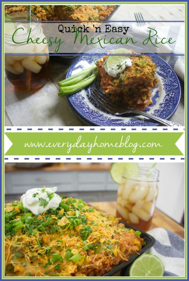 Cheesy Mexican Rice Recipe by The Everyday Home | www.everydayhomeblog.com