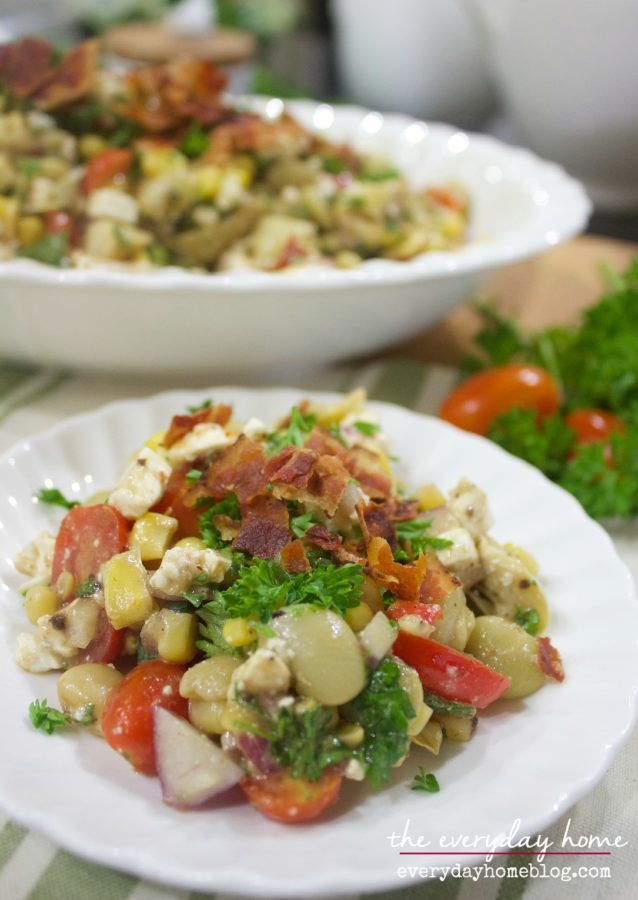 Farmhouse Succotash Recipe | The Everyday Home | www.everydayhomeblog.com