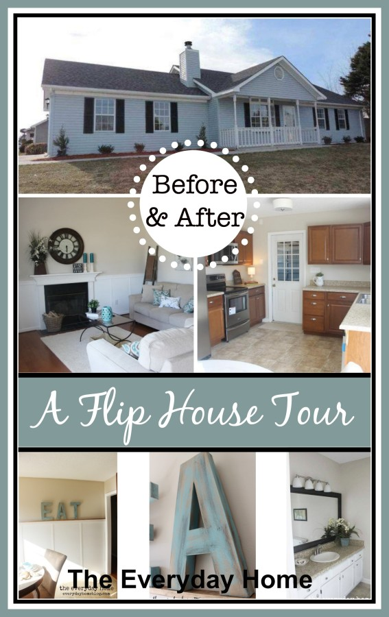 A Flip House Before and After Tour | The Everyday Home | www.everydayhomeblog.com