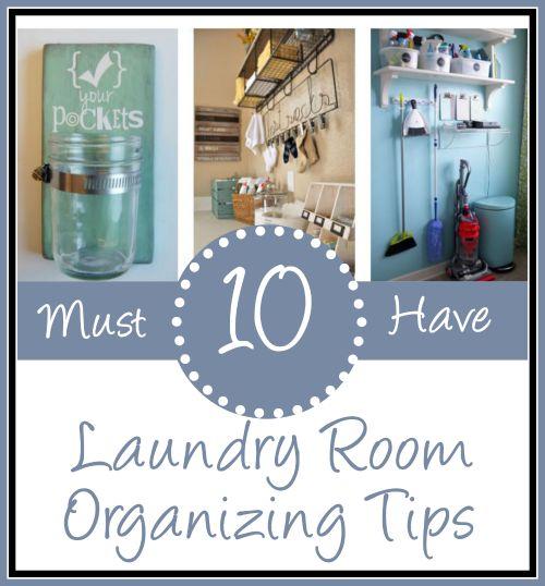 Laundry Room Organizing Tips | The Everyday Home | www.everydayhomeblog.com