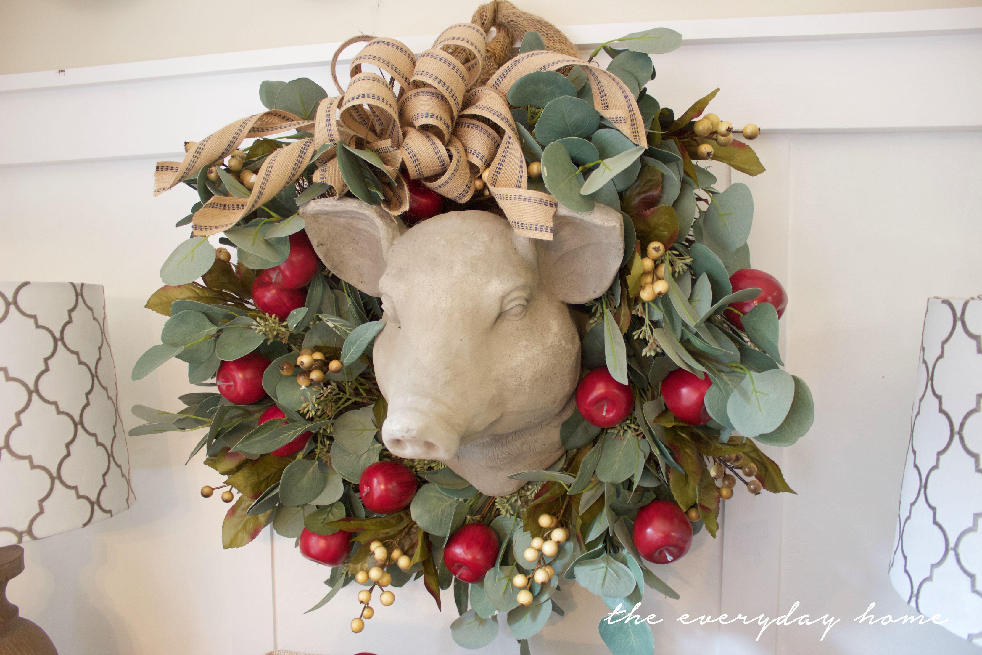 Making an Apple Berry Wreath   The Everyday Home   www.everydayhomeblog.com