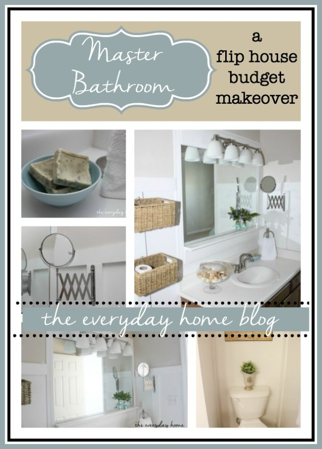 Master Bathroom Makeover on a Budget | The Everyday Home | www.everydayhomeblog.com