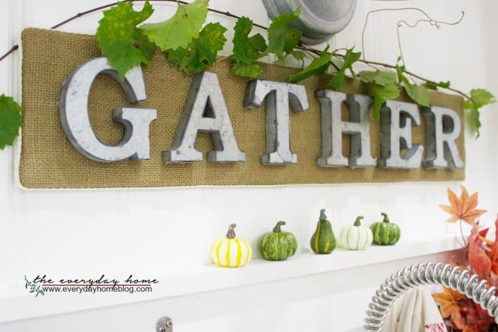 A Farmhouse Gather Sign | The Everyday Home | www.everydayhomeblog.com