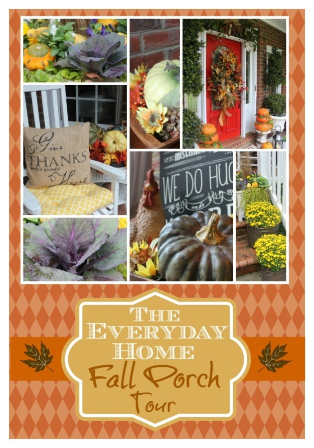 A Southern Porch Decorated for Fall | The Everyday Home | www.everydayhomeblog.com