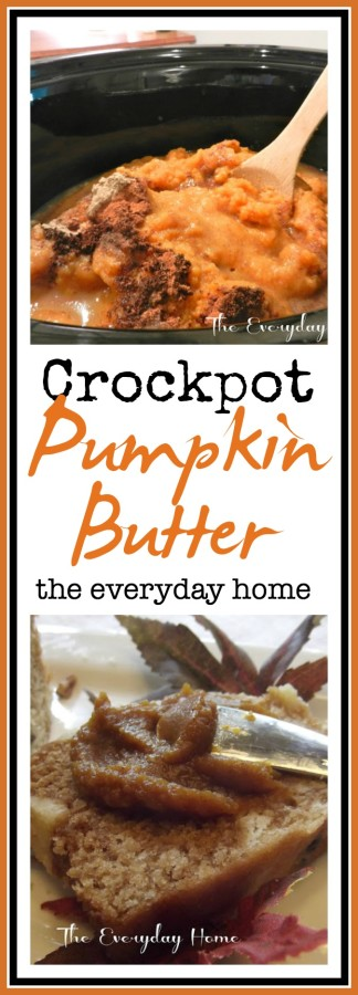 Easy Crockpot Pumpkin Butter The Everyday Home www.everydayhomeblog.com