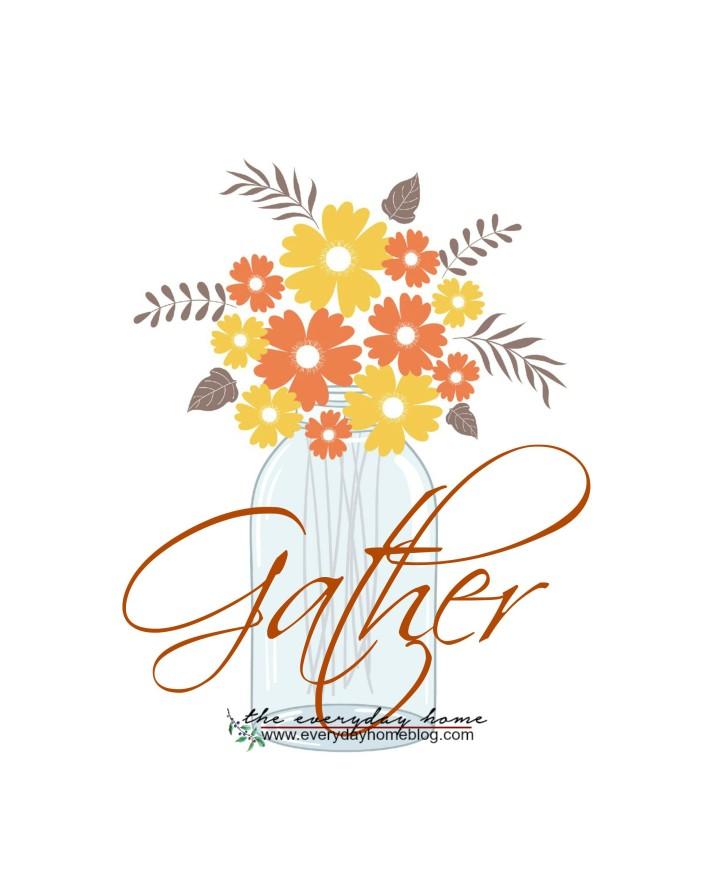 Fall Gather Jar Printable | The Everyday Home | www.everydayhomeblog.com