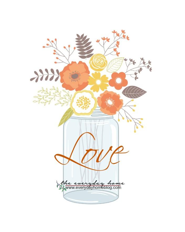 Fall Love Jar Printable | The Everyday Home | www.everydayhomeblog.com