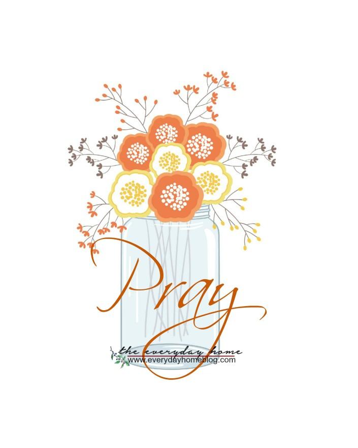 Fall Pray Mason Jar Printable | The Everyday Home | www.everydayhomeblog.com