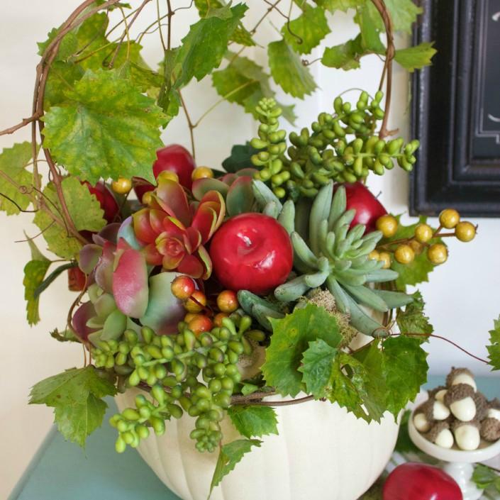 Fall Pumpkin Planter | The Everyday Home Blog | www.everydayhomeblog.com