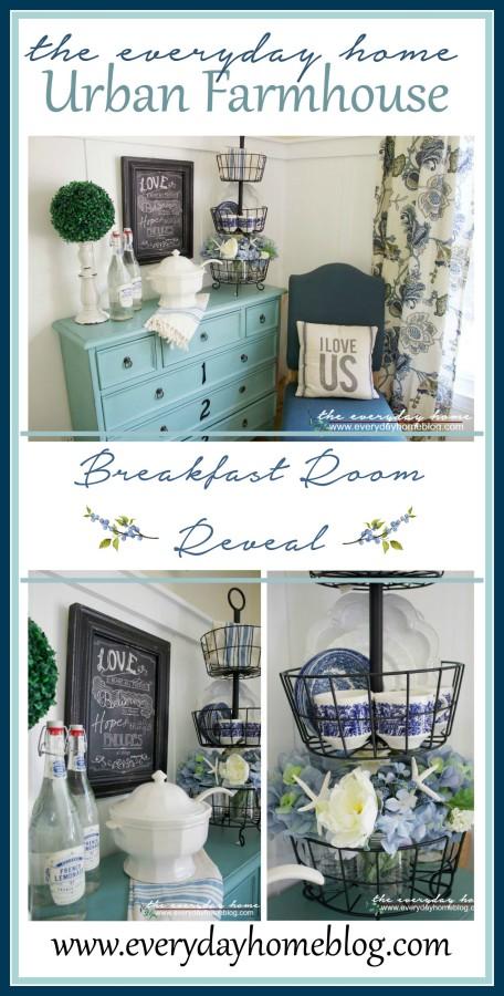 Farmhouse Breakfast Room Reveal The Everyday Home www.everydayhomeblog.com