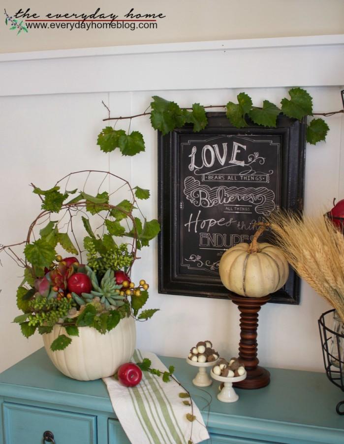 How to Make a Craft Pumpkin Planter The Everyday Home www.evevrydayhomeblog.com