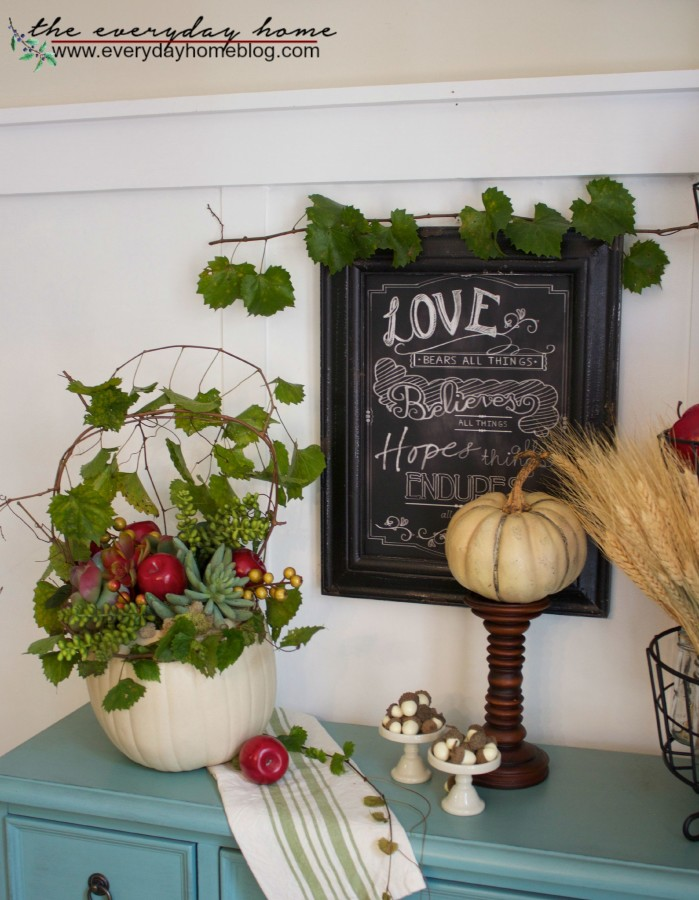 How to Make a Craft Pumpkin Planter The Everyday Home www.evevrydayhomeblog.com
