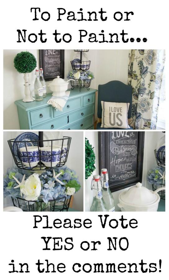 Should I Paint the Blue Chest | The Everyday Home | www.everydayhomeblog.com
