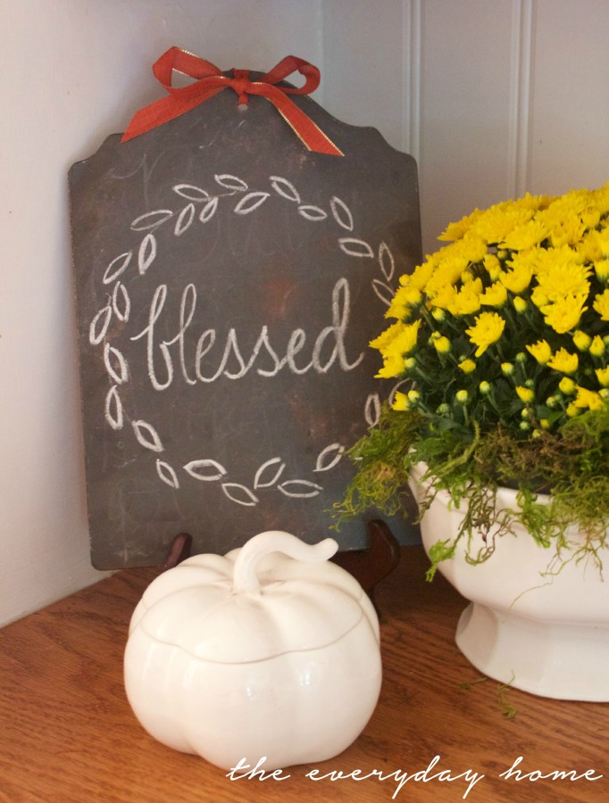 Blessed Chalkboard Sign | A Fall Tour | The Everyday Home | www.everydayhomeblog.com