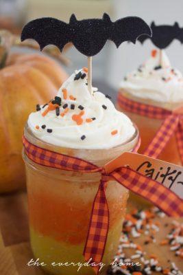 Halloween Cupcakes in a Jar