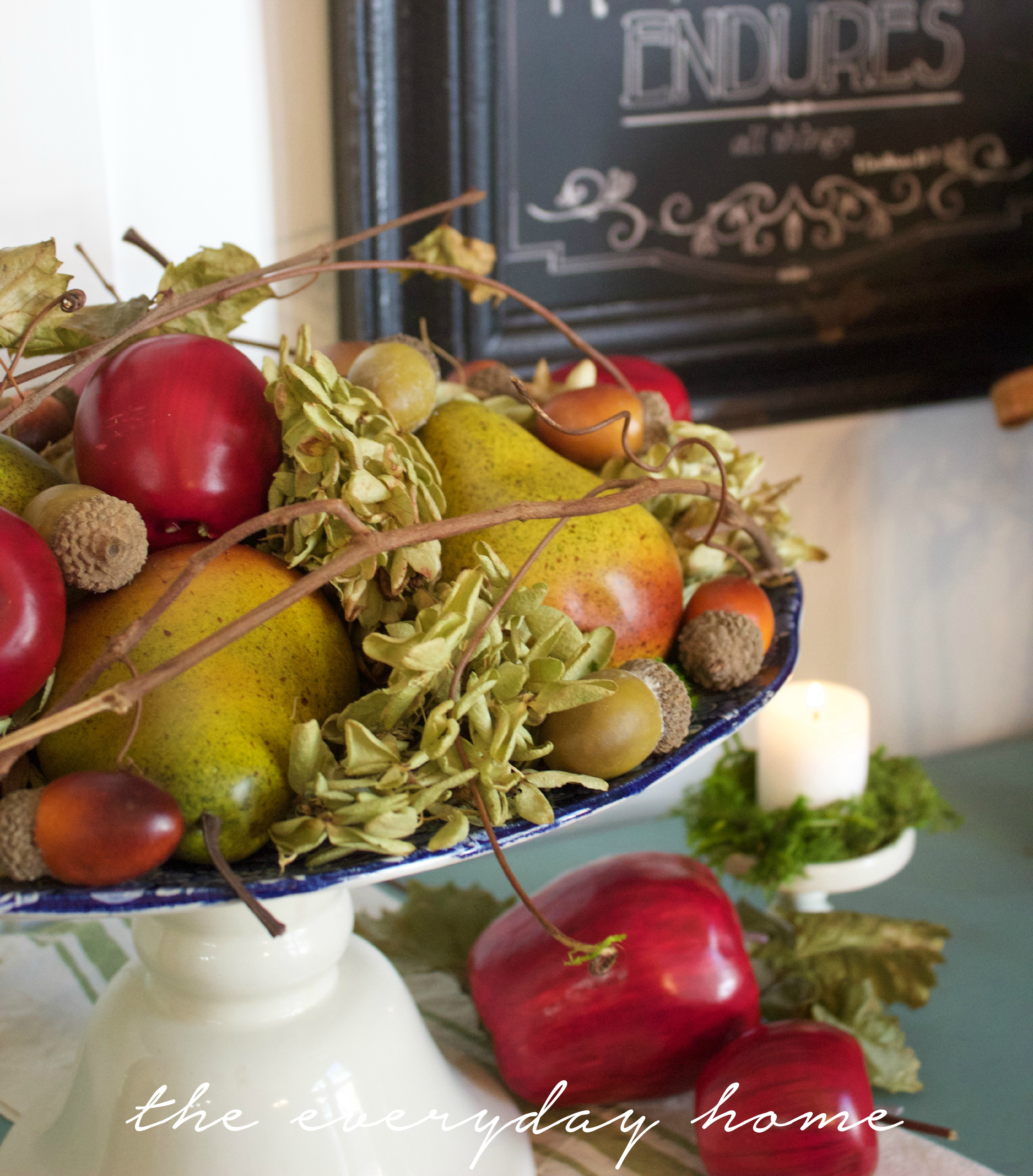 Creating a Farmhouse Harvest Platter | The Everyday Home | www.everydayhomeblog.com