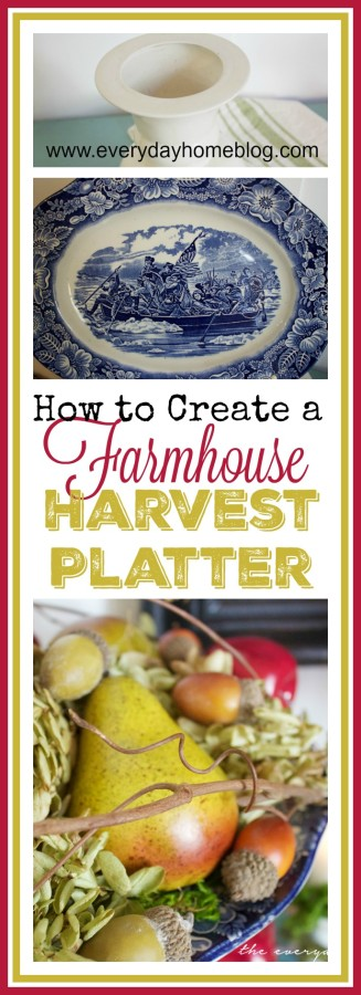 DIY Farmhouse Harvest Platter | The Everyday Home | www.everydayhomeblog.com