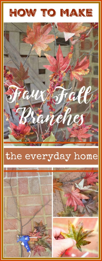 Easy DIY Faux Fall Branches | The Everyday Home | www.everydayhomeblog.com