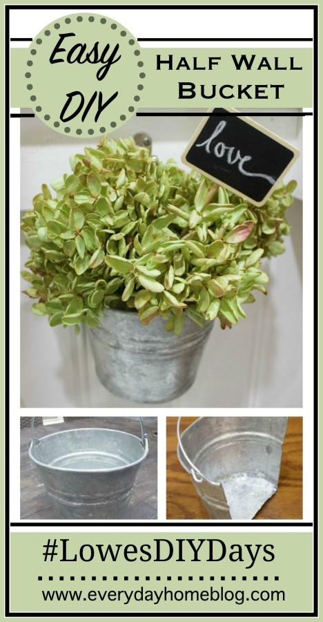 Easy DIY Half Wall Bucket | The Everyday Home | www.everydayhomeblog.com