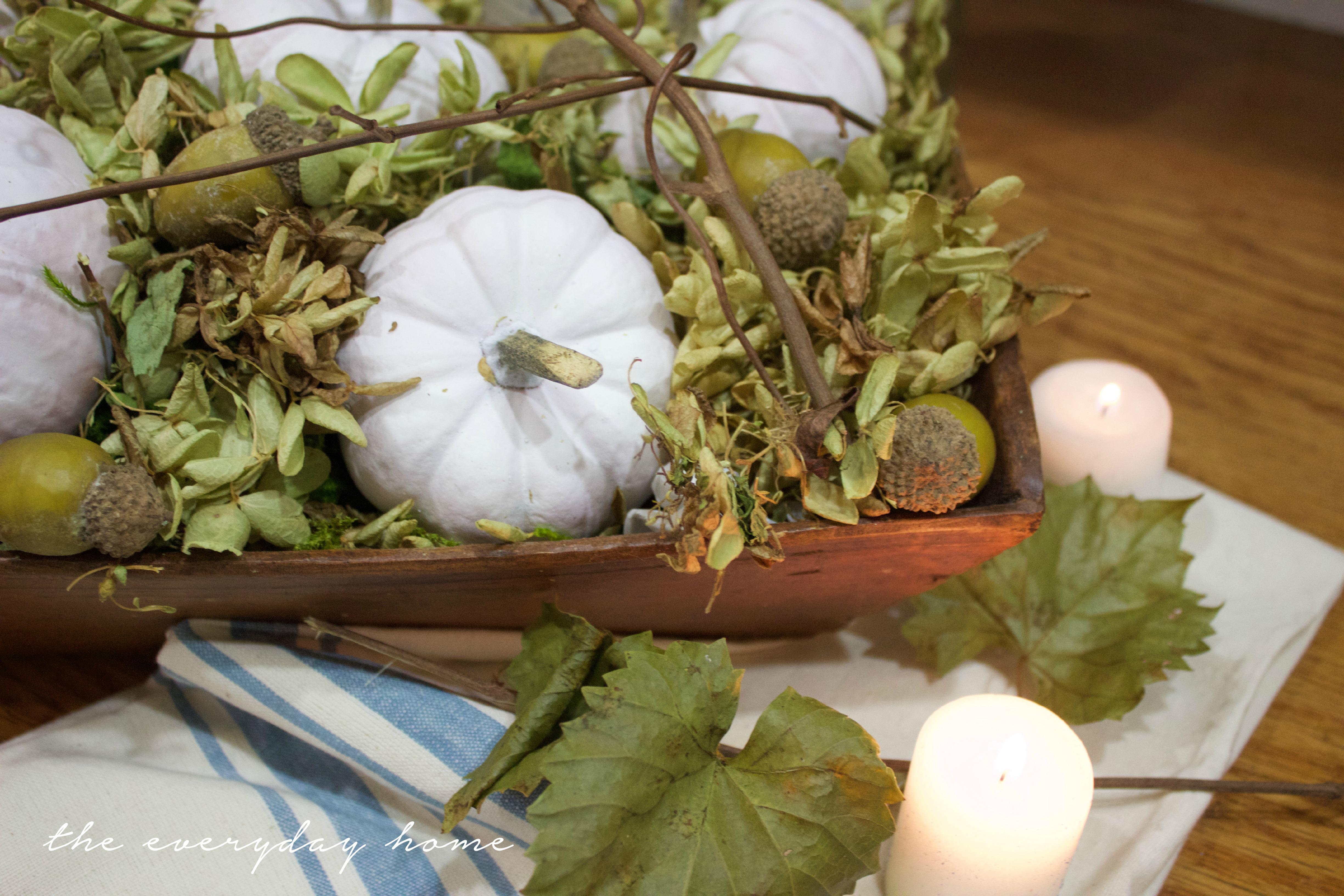 Fall Dough Bowl Arrangement | The Everyday Home | www.everydayhomeblog.com