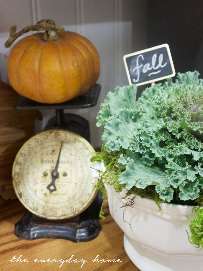 Fall Kale in Ironstone Tureen | A Fall Tour | The Everyday Home | www.everydayhomeblog.com