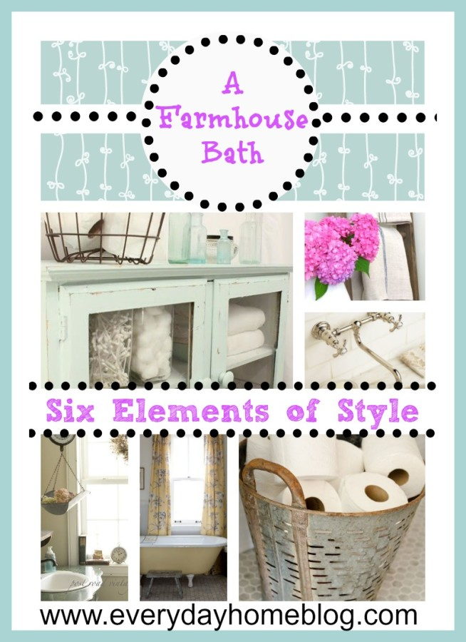 Farmhouse Bathrooms Elements of Style | The Everyday Home | www.everydayhomeblog.com